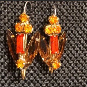 Citrine & Smokey Quartz Earrings ~ Custom Made ~